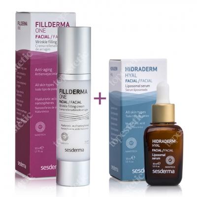 Sesderma Fillderma One + Hidraderm Hyal ZESTAW Krem wypełniający zmarszczki + Serum liposomowe 50 ml, 30 ml