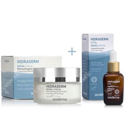 Sesderma Hidraderm + Hidraderm Hyal Liposomal Serum ZESTAW Nawilżający krem do twarzy 50 ml + Serum 30 ml