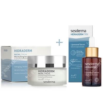 Sesderma Hidraderm + Hidraderm TRX Liposomal Serum ZESTAW Nawilżający krem do twarzy 50 ml + Serum Liposomowe 30 ml