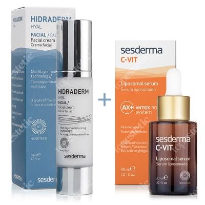 Sesderma Hidraderm Hyal + C-VIT Liposomal Serum ZESTAW Krem do twarzy 50 ml + Serum liposomowe 30 ml
