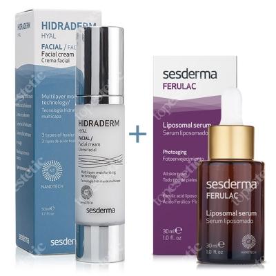 Sesderma Hidraderm Hyal + Ferulac ZESTAW Krem do twarzy 50 ml + Serum liposomowe 30 ml