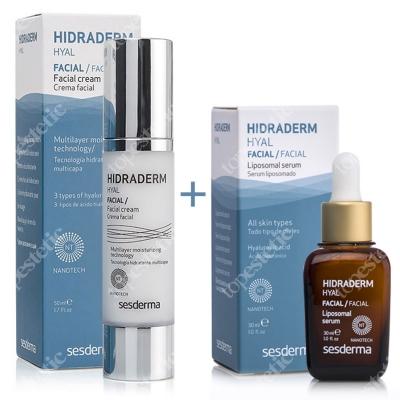 Sesderma Hidraderm Hyal + Hidraderm Hyal Liposomal Serum ZESTAW Krem do twarzy 50 ml + Serum 30 ml