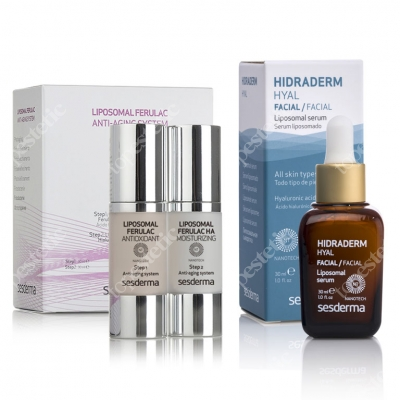 Sesderma Liposomal Ferulac Anti-Aging System + Hidraderm Hyal Liposomal Serum ZESTAW Krem 30/30 ml + Serum 30 ml