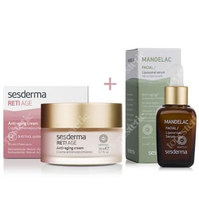Sesderma Reti Age Cream Anti Aging + Mandelac Liposomal Serum ZESTAW Krem przeciwzmarszczkowy 50 ml + Serum liposomowe 30 ml