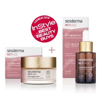 Sesderma Reti Age Cream + Serum ZESTAW Krem 50 ml + Serum przeciwzmarszczkowe 30 ml