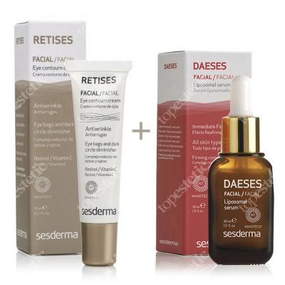 Sesderma Retises 0,05% + Daeses Liposomal Serum ZESTAW Przeciwzmarszczkowy krem pod oczy 15 ml + Serum liposomowe liftingujące 30 ml