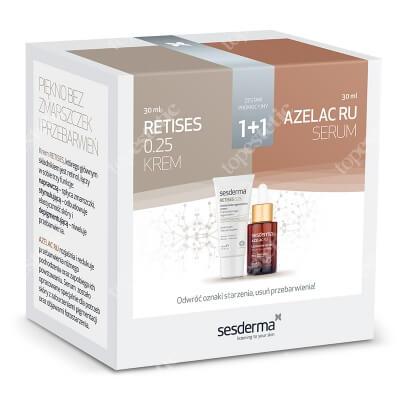 Sesderma Retises 0,25% + Azelac RU ZESTAW Regenerujący krem przeciwzmarszczkowy 30 ml + Serum liposomowe 30 ml Kartonik