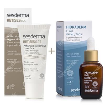 Sesderma Retises 0,25% + Hidraderm Hyal Liposomal Serum ZESTAW Regenerujący krem przeciwzmarszczkowy 30 ml + Serum 30 ml