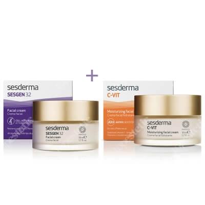 Sesderma Sesgen 32 Cream + C-VIT Moisturizing Facial Cream ZESTAW Krem odżywczy aktywujący komórki 50 ml + Krem nawilżający 50 ml