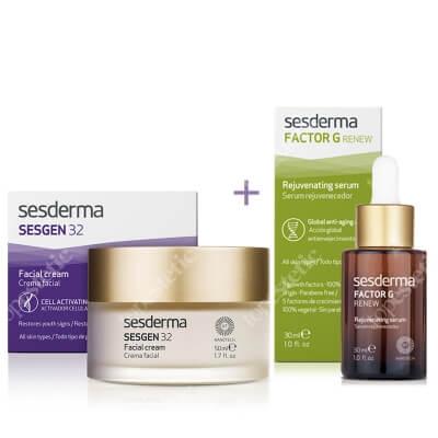 Sesderma Sesgen 32 Cream + Factor G - Rejuvenating Serum ZESTAW Krem odżywczy aktywujący komórki 50 ml + Serum z pęcherzykami lipidowymi 30 ml