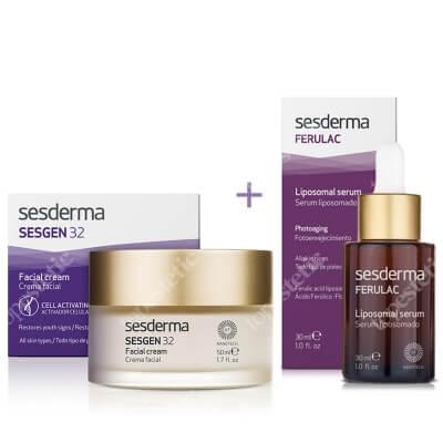 Sesderma Sesgen 32 Cream + Ferulac Liposomal Serum ZESTAW Krem odżywczy aktywujący komórki 50 ml + Serum liposomowe 30 ml