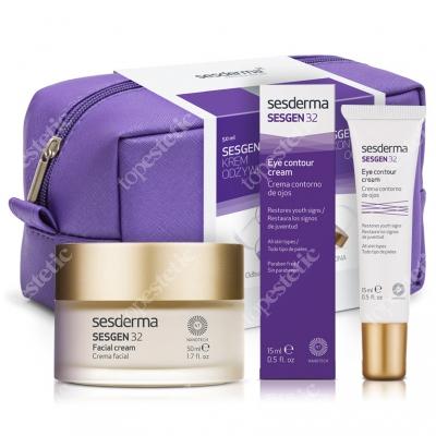 Sesderma Sesgen 32 Cream + Eye Contour Cream ZESTAW Krem odżywczy aktywujący komórki 50 ml + Krem kontur oczu 15 ml + Kosmetyczka Sesderma