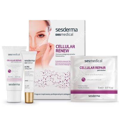 Sesderma Sesmedical Cellular Repair ZESTAW Domowa pielęgnacja przeciw fotostarzeniu 30g, 15g, 4szt.