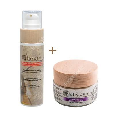 Shy Deer Cream Mask Anti Aging & Enzymatic Peeling ZESTAW Krem maska przeciwstarzeniowy 50 ml + Peeling enzymatyczny 100 ml