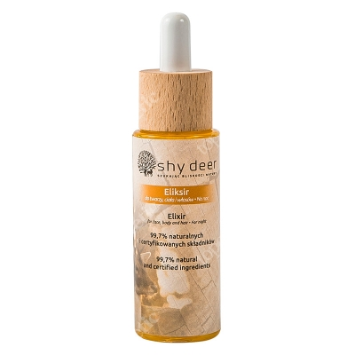 Shy Deer Elixir For Face, Body and Hair Eliksir do twarzy, ciała i włosów na noc 30 ml