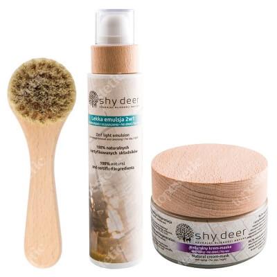Shy Deer Emulsion + Cream Mask Anti Aging + Face Clean Brush ZESTAW Emulsja 200 ml + Krem maska przeciwstarzeniowy 50 ml + Szczoteczka do oczyszczania i masażu 1 szt
