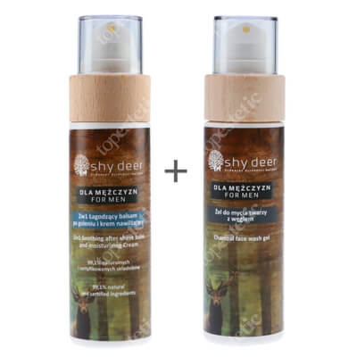 Shy Deer Men Care Set ZESTAW Balsam po goleniu i krem nawilżający 2w1 100 ml + Żel do mycia twarzy 100 ml