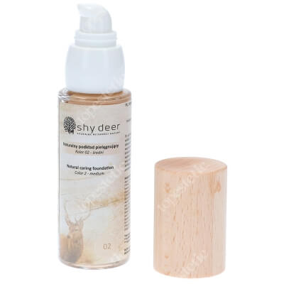 Shy Deer Natural Caring Foundation Natural Naturalny podkład pielegnujący (kolor 02) 30 ml