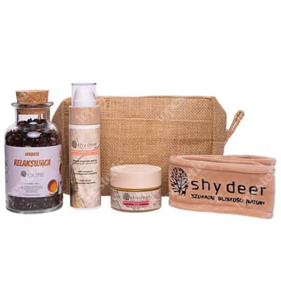 Shy Deer Rytuał Spa i Relaks Dla Skóry Suchej i Normalnej ZESTAW Maseczka do twarzy 50 ml + Peeling enzymatyczny 100 ml + Opaska welurowa 1 szt + Herbata 90 g