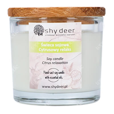 Shy Deer Soy Candle Świeca sojowa - cytrusowy relaks 165 g