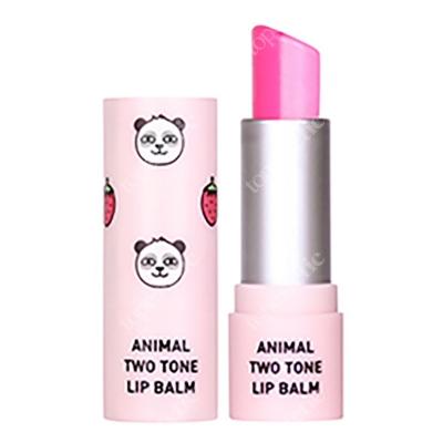 Skin79 Animal Two-Tone Lip Balm Strawberry Panda Balsam do ust w sztyfcie 3,8 g