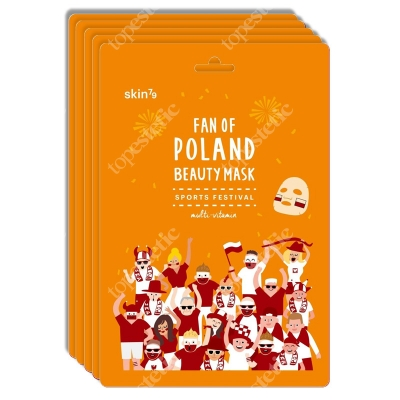 Skin79 Fan Of Poland Beauty Mask Multiwitaminowa maska kibica 5szt.