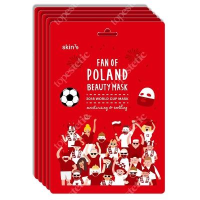 Skin79 Fan Of Poland Beauty Mask Nawilżająco-kojąca maska kibica 5szt.