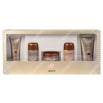 Skin79 Golden Snail Kit ZESTAW Krem BB 7 g + Toner 20 ml + Krem 15 g + Emulsja 20 ml + Pianka 20 ml