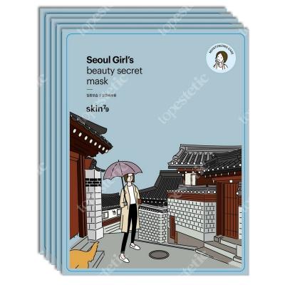 Skin79 Seoul Girls Beauty Secret Mask Moisturizing Care Nawilżająca maska w płacie 5x20 g