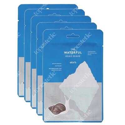 Skin79 The Waterful Snail Mask x 5 ZESTAW Nawilżająco-kojąca maska w płacie 20 ml x 5 szt