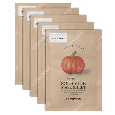 Skinfood Pumpkin Sous Vide Mask Sheet x 5 ZESTAW Maseczka w płachcie - dynia 5 x 1 szt