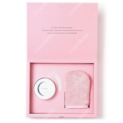 Slaap Bamboo Glove + Soul Balm ZESTAW Rękawica do czyszczenia twarzy 1 szt + Aromatyczny balsam do demakijażu 100 ml