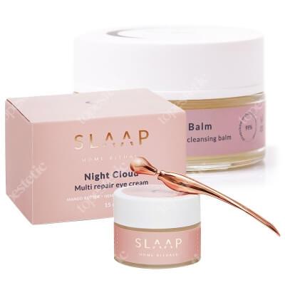 Slaap Soul Balm + Night Cloud ZESTAW Aromatyczny balsam do demakijażu 100 ml + Krem do pielęgnacji okolic oczu 15 ml