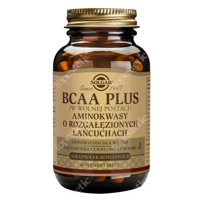Solgar BCAA (w postaci wolnej) Aminokwasy o rozgałęzionych łańcuchach 50 kaps.