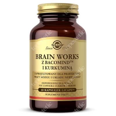 Solgar Brain Works Dla osób, które szukają kompleksowego wsparcia pracy mózgu i układu nerwowego 60 kaps