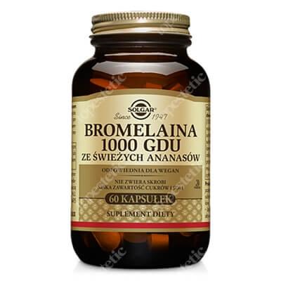 Solgar Bromelaina 1000 GDU Enzymem trawienny 60 kapsułek