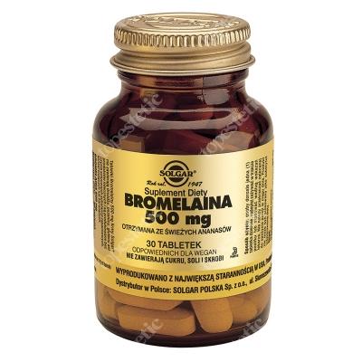 Solgar Bromelaina 500 mg Otrzymana ze świeżych ananasów 30 tabletek
