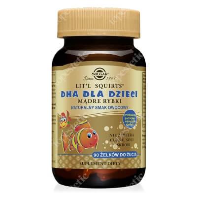 Solgar DHA dla dzieci Mądre Rybki 90 żelków