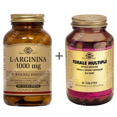 Solgar Dla Aktywnych Kobiet ZESTAW Wysoce skuteczna formuła witamin i minerałów dla kobiet 60 tabletek + W postaci wolnej 90 tabletek