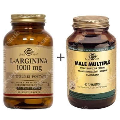 Solgar Dla Aktywnych Mężczyzn ZESTAW Wysoce skuteczna formuła witamin i minerałów z Likopenem dla mężczyzn 60 tabletek + W postaci wolnej 90 tabletek
