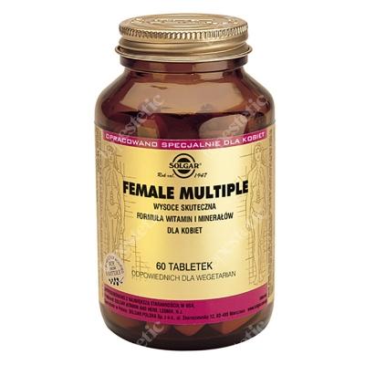 Solgar Female Multiple Wysoce skuteczna formuła witamin i minerałów dla kobiet 60 tabletek