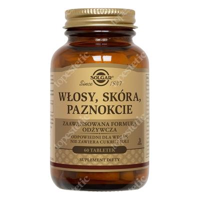 Solgar Włosy, Skóra, Paznokcie (WSP) Zaawansowana formuła odżywcza 60 tabletek