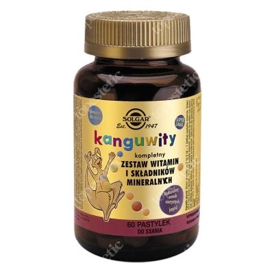 Solgar Kanguwity (smak soczyste jagody) Kompletny zestaw witamin i składników mineralnych 60 pastylek