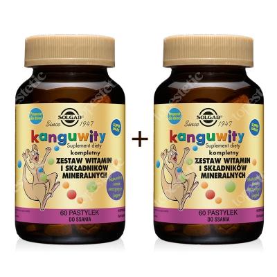Solgar Kanguwity (smak soczyste jagody) x 2 ZESTAW Kompletny zestaw witamin i składników mineralnych 2x 60 pastylek