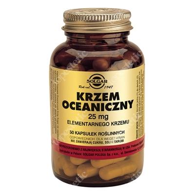 Solgar Krzem oceaniczny Zawiera 25 mg wolnego krzemu 50 kapsułek