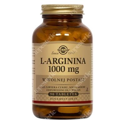 Solgar L-arginina 1000 mg W postaci wolnej 90 tabletek