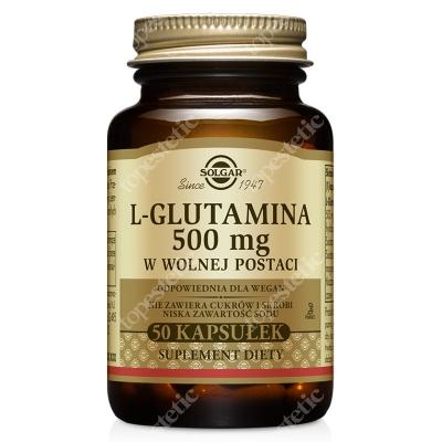 Solgar L-Glutamina 500 mg W postaci wolnej 50 kaps.
