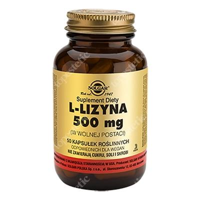Solgar L-Lizyna 500 mg W postaci wolnej 50 kapsułek
