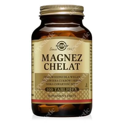 Solgar Magnez chelat aminokwasowy Zapewniający najlepszą wchłanialność 100 tabletek