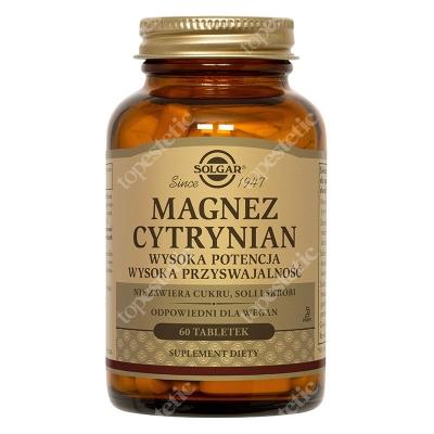 Solgar Magnez Cytrynian Wysoka potencja, wysoka przyswajalność 60 tabletek